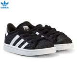 adidas Originals Black and White Infants Superstar Trainers