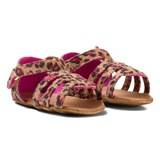 Juicy Couture Brown and Pink Leo Sandals