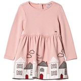 Mayoral Pink House Embroidered Dress