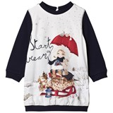 Mayoral Navy Snow Girl Print Sweat Dress