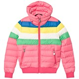 Perfect Moment Pink Rainbow Ski Queenie Jacket