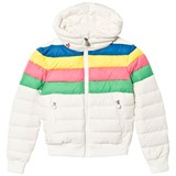 Perfect Moment White Rainbow Ski Queenie Jacket