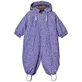 Mikk-Line Purple Blue Ice Nylon Baby Snowsuit