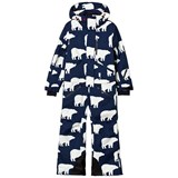 Perfect Moment Blue All Over Bear Print Onesie Ski Suit