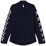 Perfect Moment Navy Star Half Zip Sweater