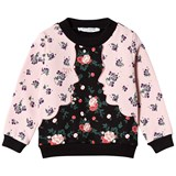 Vivetta Pink and Black Floral Face Sweatshirt