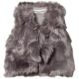 How To Kiss A Frog Slate Faux Fur Grey Vest
