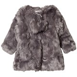 How To Kiss A Frog Grey Faux Fur Coat