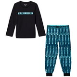 Calvin Klein Blue and Black Logo Branded Pyjamas