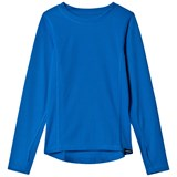 Lands' End Blue Solid Thermaskin Layering Top