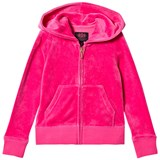 Juicy Couture Hot Pink Glitter Velour Hoodie