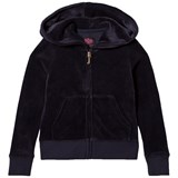 Juicy Couture Navy Glitter Velour Hoodie