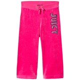 Juicy Couture Juicy Couture Hot Pink Glitter Velour Trackpants