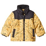 Indikidual Yellow Banana Zip Off Sleeves Coat