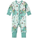 ANÏVE for the minors Green Ski Print Baby Jumpsuit