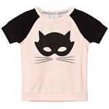 Scamp & Dude Pink And Black Cat Mask Tee