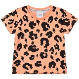 Scamp & Dude Orange Leopard Print Tee