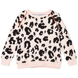 Scamp & Dude Blush Pink Leopard Print Sweatshirt