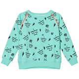 Scamp & Dude Green Superhero Print Sweatshirt