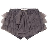 DOLLY by Le Petit Tom Chiffon Frilly Pants/Tutu Bloomer Dark Grey