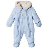 Mayoral Blue Bear Hooded Snowsuit with Detachable Mittens and Booties