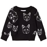 Tobias & The Bear Black Sweatshirt With White Fox Print