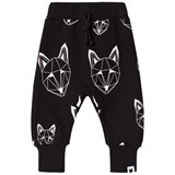 Tobias & The Bear Black Joggers With White Fox Print