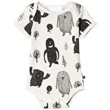 Tobias & The Bear White And Black Vest Romper With Monster Print