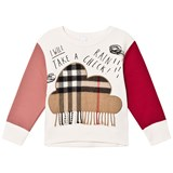 Burberry White Rain Check Cloud Sweater