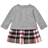 Burberry Pink Mini Francine Sweater and Check Skirt Dress