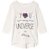 Guess Cream You Are My universe Heart Sequin Long Sleeve Tee