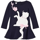 Kate Mack - Biscotti Navy Cat Applique and Diamante Dress