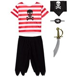 Travis Red, White and Black Pirate Costume