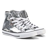 Converse Silver Sequins Chuck Taylor All Star Hi Tops