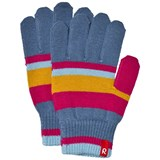 Reima Pink Striped Knitted Gloves