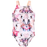 Molo Pink and Orange Mirror Birds Nakia Swimsuit