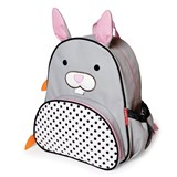 Skip Hop Black White And Grey Bunny Backpack