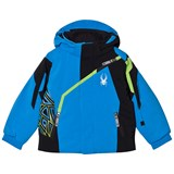 Spyder Blue Colour Block Mini Challenger Jacket