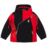 Spyder Red Colour Block Mini Challenger Jacket