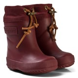Bisgaard Bordeaux Red Thermo Wool Rubber Boot