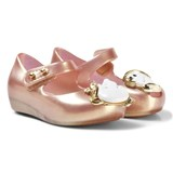 Mini Melissa Pink Rose Gold Pearl Shoes