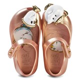 Mini Melissa Rose Gold Pearl and Beauty and the Beast Shoes