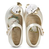 Mini Melissa White Pearl and Beauty and the Beast Shoes