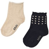 Molo Gold and Navy Necky Socks