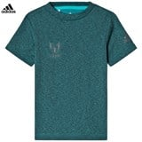 adidas Performance Teal Green Messi Performance Tee