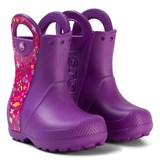 Crocs Kids Purple Handle It Graphic Boots