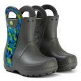 Crocs Kids Grey Graphic Handle It Boots