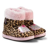 Hello Kitty Leopard and Pink Hello Kitty Slippers