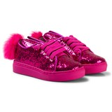 Minna Parikka Hot Pink Glitter Bunny Faux Fur Sneakers