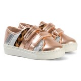 Minna Parikka Gold and Multi Stripes Coloured Sneakers